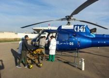 مروحية الوردي تتدخل لإسعاف مريضين بالحسيمة ونقلهما إلى وجدة والدار البيضاء