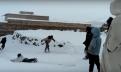 بالفيديو/تينغير: أطفال من جماعةتلمي فرحانين بالثلج