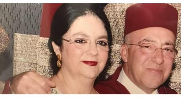 سوس بلوس تعزي السيدة سلوى بنكيران في وفاة زوجها فؤاد التازي