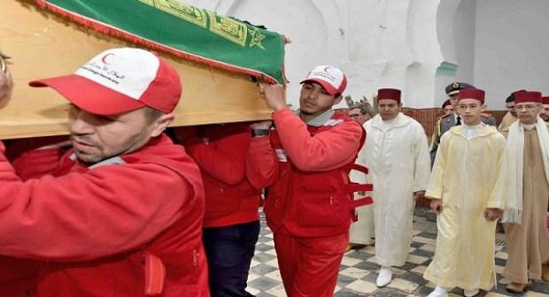 مولاي الحسن والعثماني في جنازة مبدع النشيد الوطني