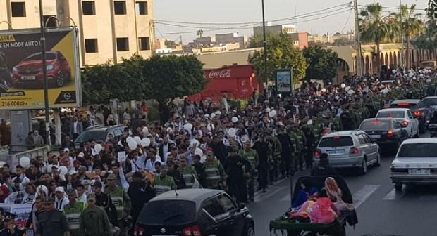 انزكان : عودة احتجاجات الاساتذة المتعاقدين..سلمية المتظاهرين وحكمة القوى الامنية