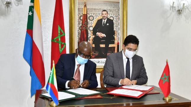 المغرب وإتحاد جزر القمر يوقعان على خمسة إتفاقات تعاون