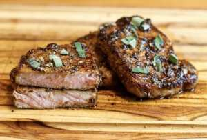 Sous Vide Pork Chops with balsamic and sage