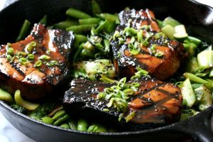 Miso Soy Pork Chops from Savoring the Good