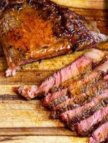 sous vide steak with gochujang butter