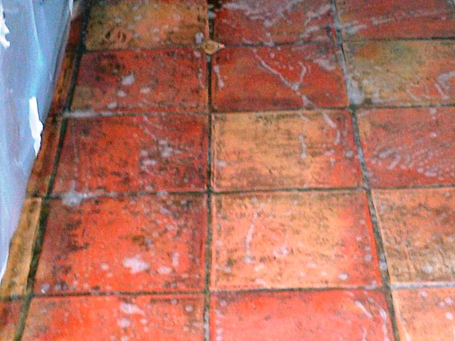 Terracotta Tiled Floor Maintained in Denham