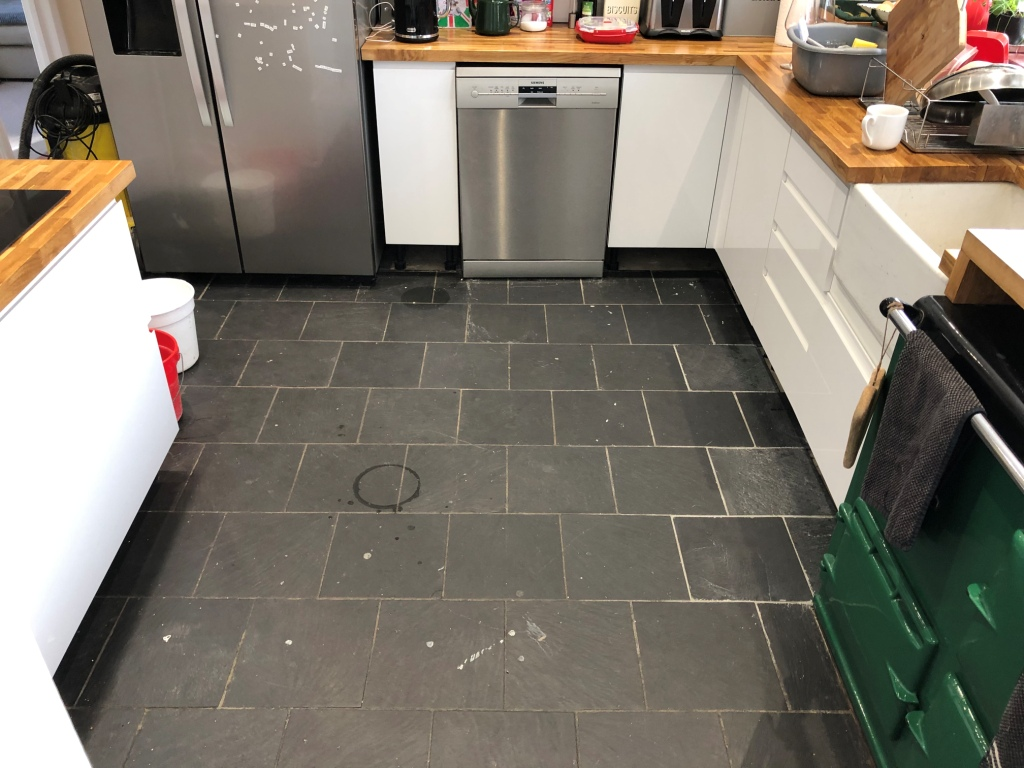 Tired Kitchen Slate Floor Given New Life In High Wycombe Stone Cleaning And Polishing Tips For Slate Floors