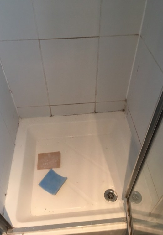 Shower Cubicle in Grange-over-Sands Before Cleaning