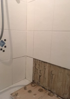 Shower Cubicle During Restoration Kendal