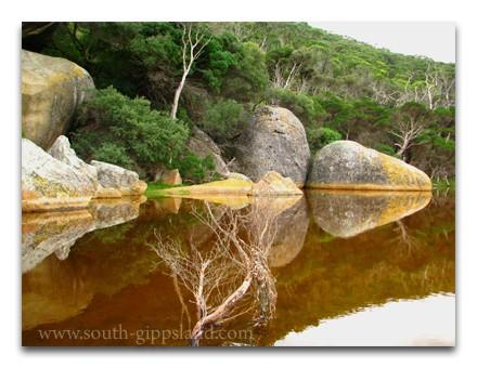 large granite boulders on Tidal River