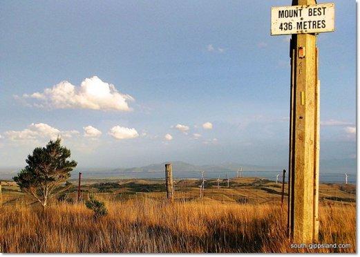 mount best elevation above sea level sign