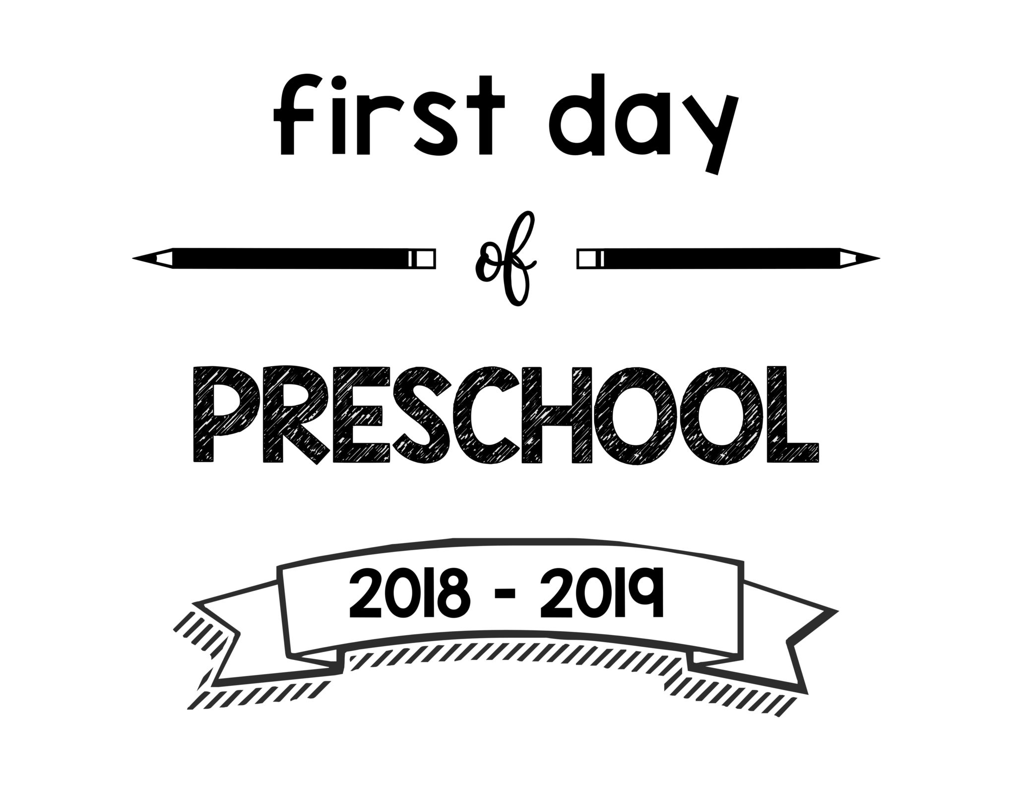 First Day Of School Printable Signs For 2018 2019 School Year South Lumina Style