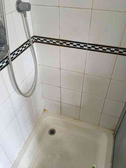 Ceramic Tiled Shower Cubicle Before Cleaning Shepperton