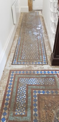 Removing Carpet Glue from an Old Victorian Tiled Hallway ...