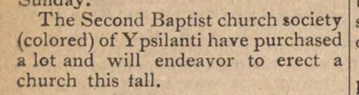 31 August, 1888. Ann Arbor Argus.