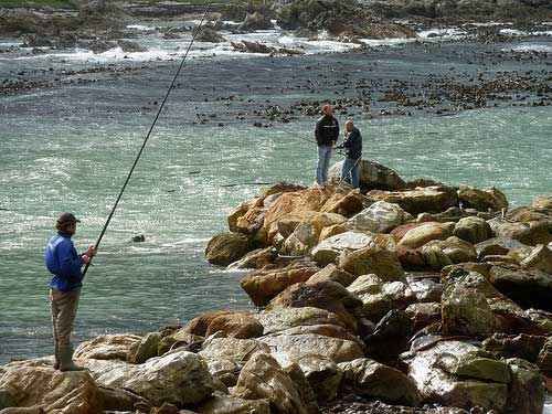 South Africa fishing from the beach