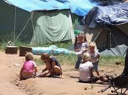 White squatter camp in South Africa