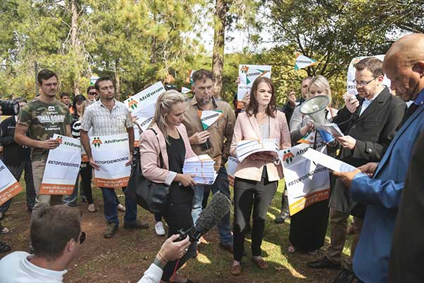 AfriForum and ANI convoy to the Union Building. Photo credit: Rozier van Tonder