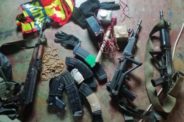 High caliber firearms recovered, Tzaneen. Photo: SAPS