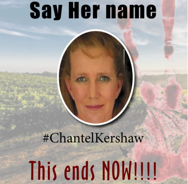 Farm murder of Chantel Kershaw: Protest action - Delmas court - 13 October 2020