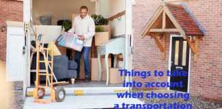 Things to take into account when choosing a transportation provider