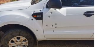Farm attackers open fire with heavy calibre weapons on woman's vehicle, Makwassie. Photo: Oorgrens Veiligheid