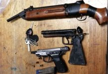 3 Arrested with illegal firearms linked to murder of security guard. Photo: SAPS