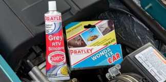 Pratley Grey RTV Silicone and Pratley Wondafix Car
