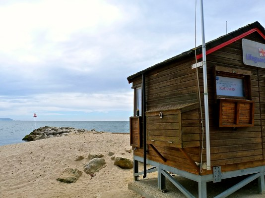 The lifeguards' hut © Southampton Old Lady
