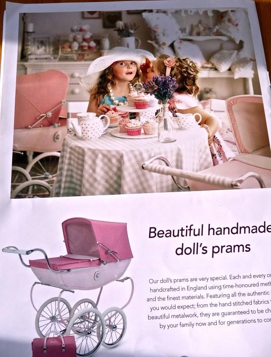 Nostalgia pram adverts in magazines today
