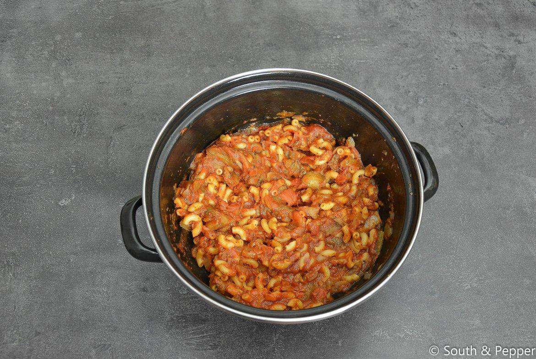 Gevulde aubergines met macaroni