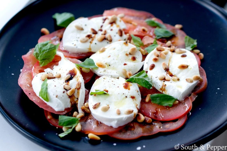 Salade caprese van chef Peter De Clercq