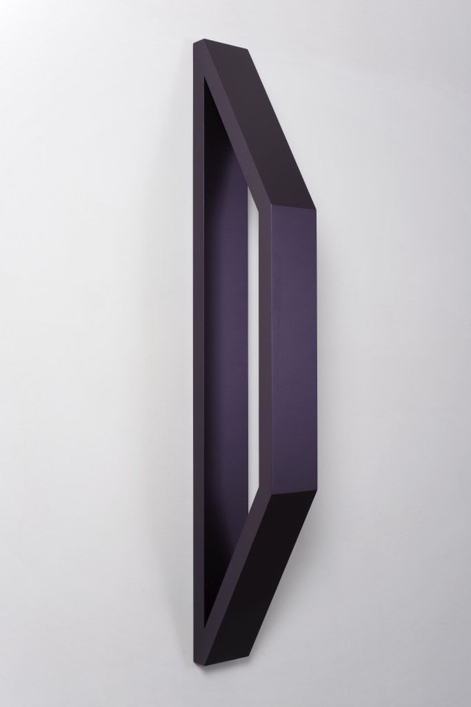 3_FG_Piacentino_METALLOID DARK-PURPLE WALL-TRAPEZIUM SCULPTURE