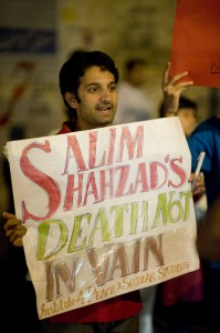 Salim Shahzad's death not invain - reads the plycard