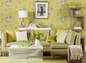 living floral wallpapers yellow statement decoration transform lounge google decor ideal elegant bring outdoors amazing pl into grey chartreuse blackmore