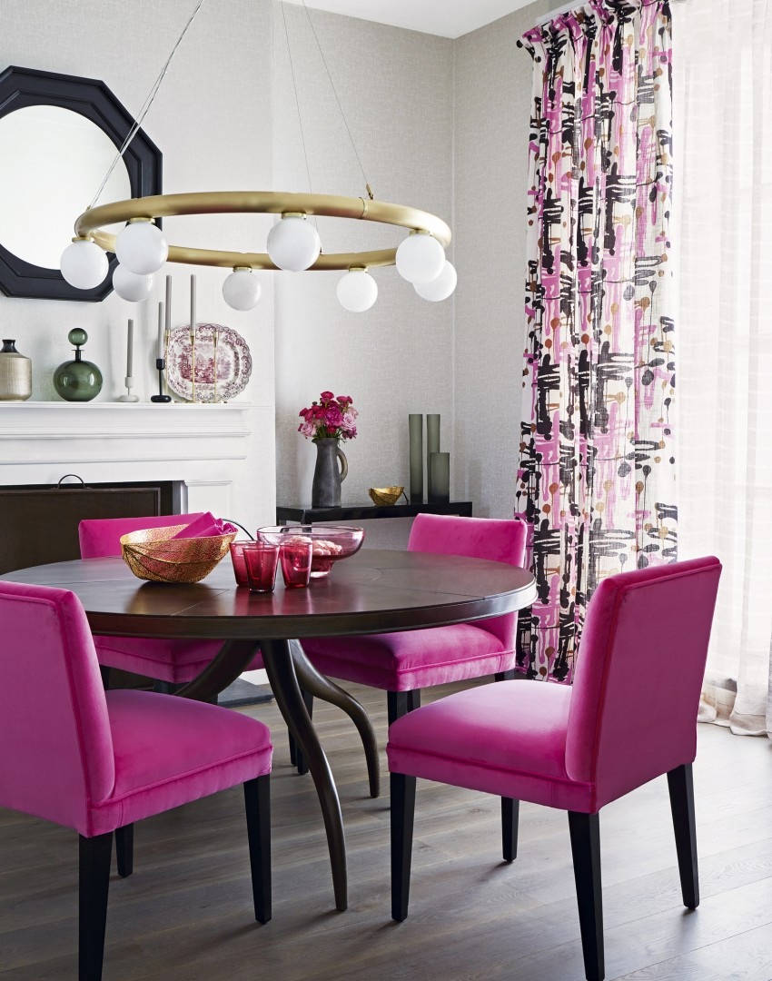 pink dining room chairs chair original design loris decoration neutral with bright