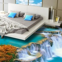 3D flooring for bathrooms, kitchens and bedrooms