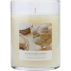 ONE 4.5 inch GLASS PILLAR SCENTED CANDLE.  COMBINES SWEET CREAMY VANILLA AND COCONUT TO CREATE A DELIGHTFUL FRAGRANCE. BURNS APPROX. 70 HRS.