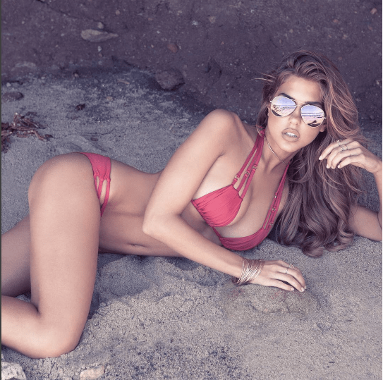 Beach Bunny Basics Red Triangle Bikini | http://bit.ly/2kbIZ4K