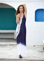 South Beach Swimsuits Elan V Neck Tie Dye Long Dress