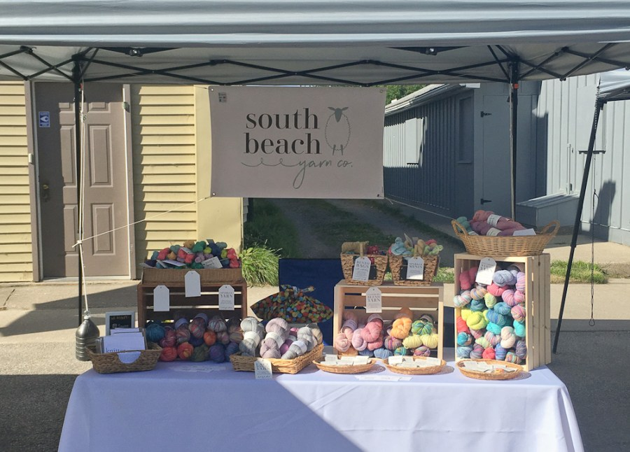 South Beach Yarn Co at the Port Elgin Farmer's Market