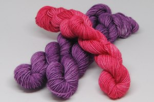 Rainbow Purple and Diva Sock Mini
