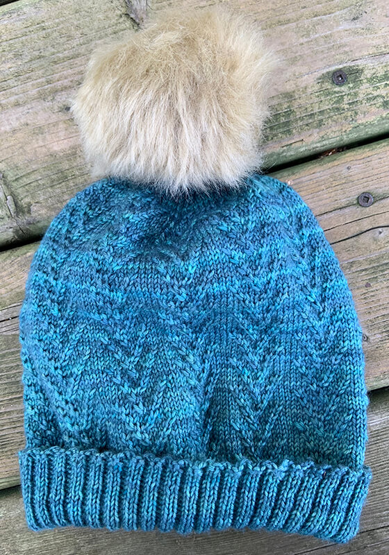 Shows the Tiggy Hat Pattern complete