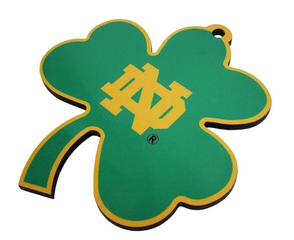 Notre Dame Shamrock Sublimated Ornament