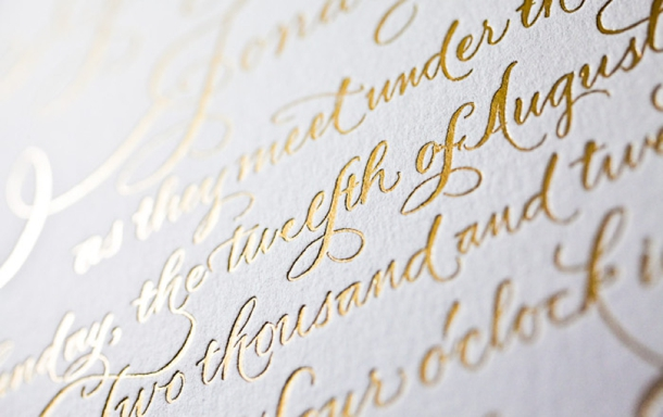 Foil Stamped Wedding Invitations Gold Silver Rose Basic Invite