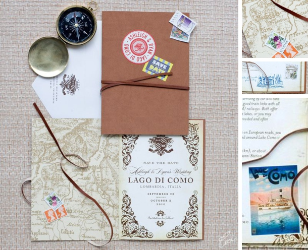 This Was Created For A Destination Wedding In Lake O Italy And Included Map Postcard Detailing Geous Artist S Travel Journal With