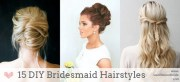 diy bridesmaid wedding hair