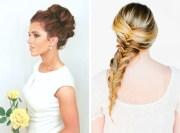 diy bridesmaid wedding hair