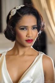 glamorous red lipstick brides
