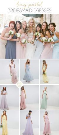 Long Mix & Match Pastel Bridesmaid Dresses | SouthBound Bride